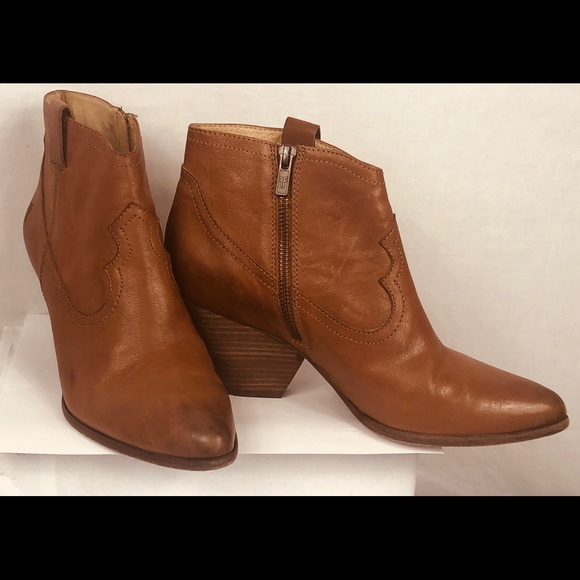 5616711abee FRYE Reina Leather Bootie Ankle Boots Size 10